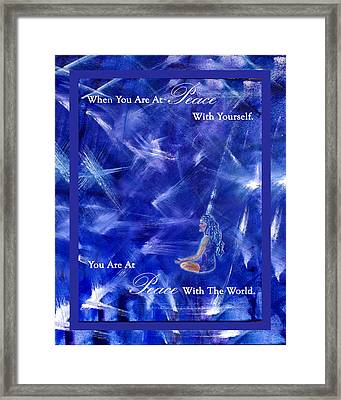 At Peace Framed Print by The Art With A Heart By Charlotte Phillips