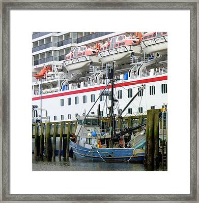 At Port Framed Print by Mindy Newman