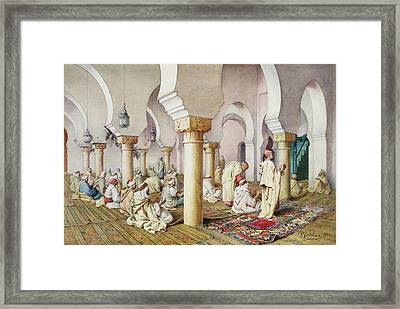 At Prayer In The Mosque Framed Print by Filipo Bartolini or Frederico