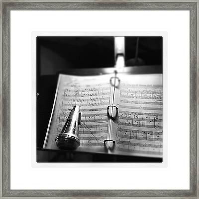 At Rehearsal Framed Print