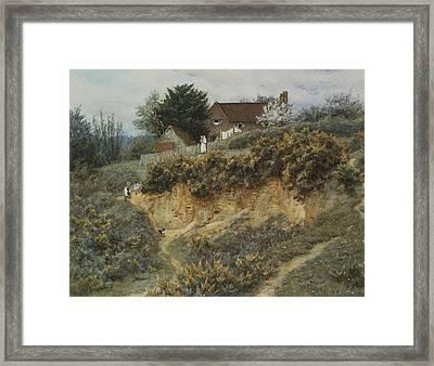 At Sandhills Witley Framed Print by Helen Allingham