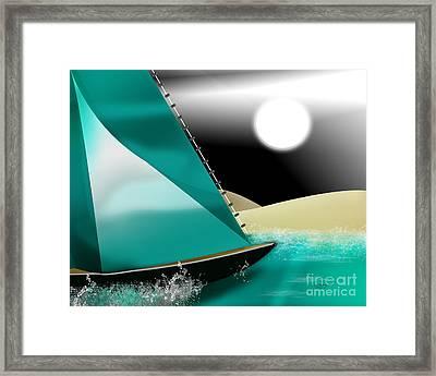 At Sea Framed Print by Linda Seacord