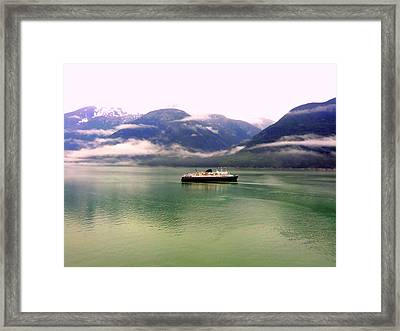 At Sea Framed Print by Mindy Newman