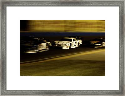 Framed Print featuring the photograph At Speed by Michael Nowotny