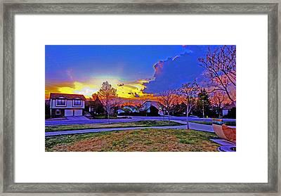 At Sunset Framed Print