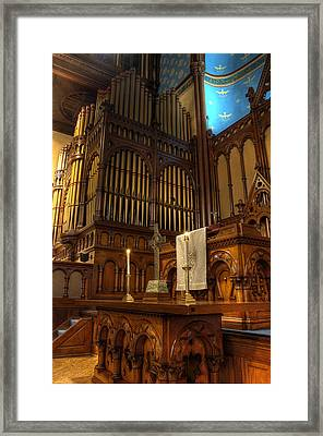 At The Altar Framed Print by At Lands End Photography
