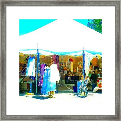 At The Antique Show #abstract #android Framed Print