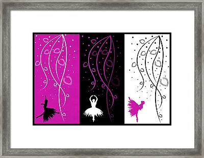 At The Ballet Triptych 2 Framed Print by Angelina Vick