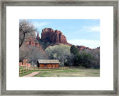 At The Base Framed Print