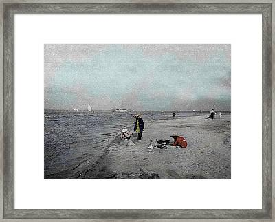 At The Beach Framed Print by Andrew Fare