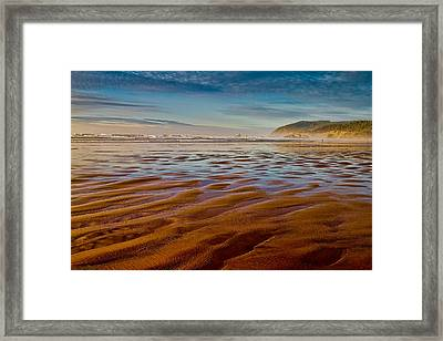 At The Beach Framed Print by Ken Stanback