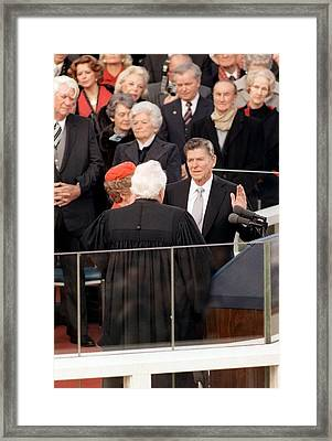 At The Capitol Building Ronald Reagan Framed Print by Everett