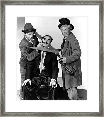 At The Circus, From Left Chico Marx Framed Print