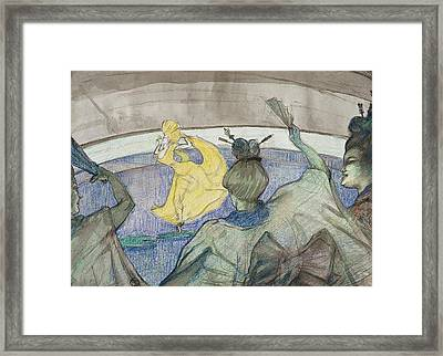 At The Circus Framed Print by Henri de Toulouse-Lautrec