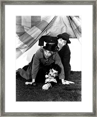 At The Circus, The Marx Brothers T-b Framed Print