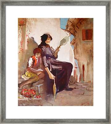 At The Doorstep Framed Print by Ylli Haruni