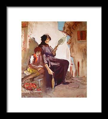 Old Lady Framed Prints
