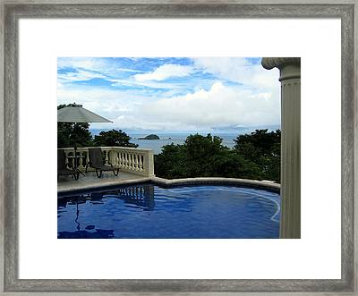 At The Edge Of The Ocean Framed Print by RicardMN Photography