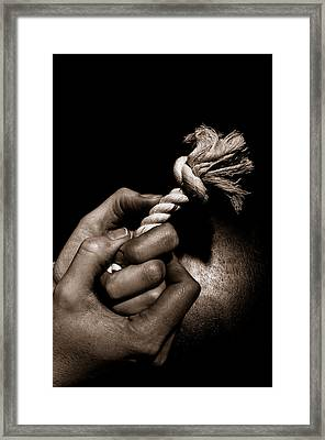At The End Of My Rope Framed Print