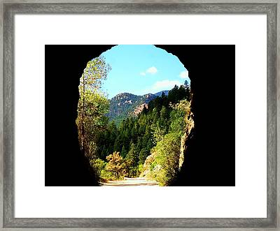 Framed Print featuring the photograph At The End Of The Tunnel by Clarice  Lakota
