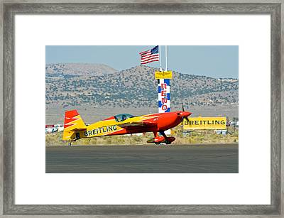 At The Finish Framed Print by Tom Dowd