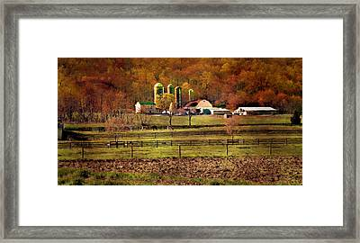 At The Foot Of The Mountain Framed Print by Kathy Jennings