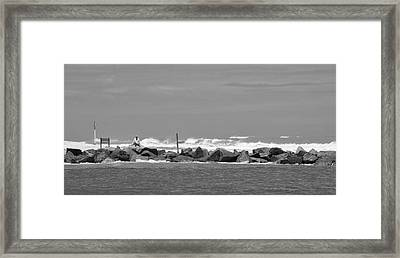 At The Inlet Framed Print