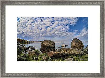 At The Lake Framed Print by Vladimir Kholostykh