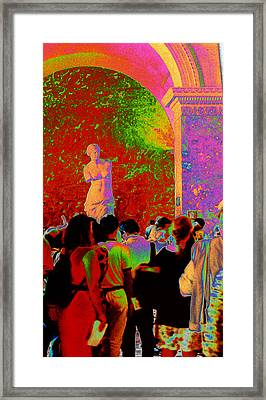 Framed Print featuring the photograph At The Louvre by Louis Nugent