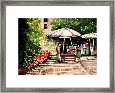 At The Market Framed Print by Elizabeth Robinette Tyndall
