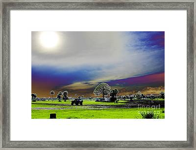 At The Mudjam Framed Print