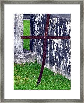 At The Old Rusty Cross Framed Print by Rdr Creative
