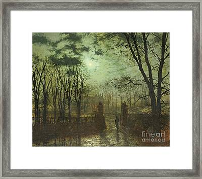 At The Park Gate Framed Print by John Atkinson Grimshaw