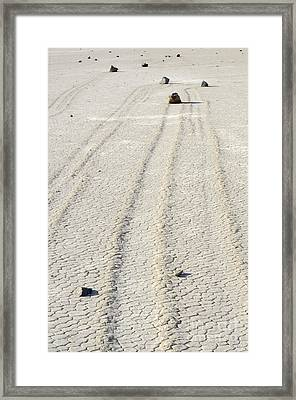 At The Racetrack Death Valley Framed Print