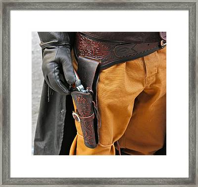 At The Ready Framed Print by Bill Owen
