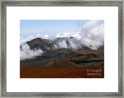 At The Rim Of The Crater Framed Print
