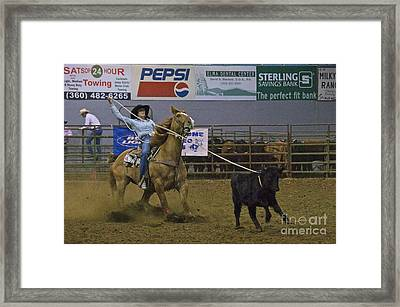 At The Rodeo Framed Print