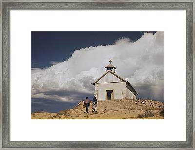 At The Spanish-american Village Framed Print by Justin Locke