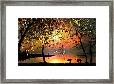 At The Sunset Framed Print by Igor Zenin