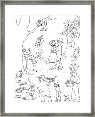 At The Wedding Framed Print by Vass Eva Rozsa