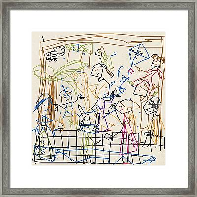 At The Zoo Framed Print by Elena Breeze