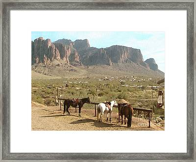 At Trail's End Framed Print by Cristophers Dream Artistry