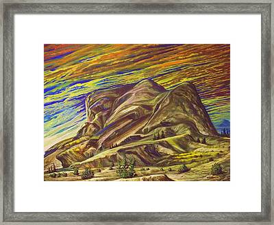 Atardecer En Algun Lugar... Framed Print by Joe Santana