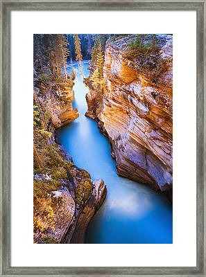Athabasca Falls At Dusk Jasper Photograph By Yves Marcoux