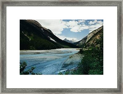 Athabasca River Framed Print by Shirley Sirois