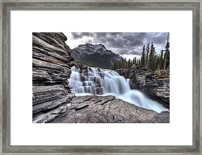 Athabasca Waterfall Alberta Canada Framed Print