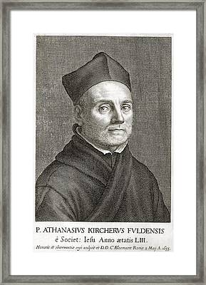 Athanasius Kircher, German Scholar Framed Print by Library For The Performing Artsnew York Public Library