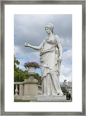 Athena And The Owl Framed Print by Fabrizio Ruggeri