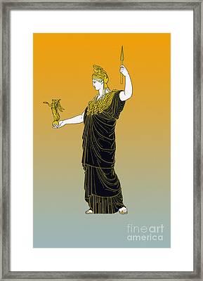 Athena, Greek Goddess Framed Print