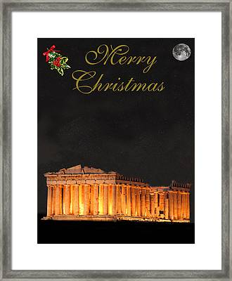 Athens Merry Christmas Framed Print by Eric Kempson